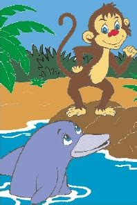 Moral Short Stories for Kids The Monkey and the Dolphin