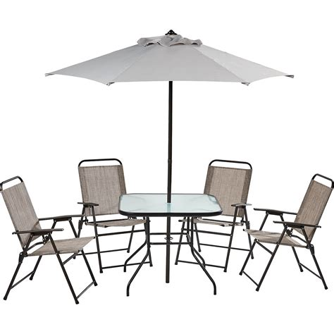 Mosaic 6 Piece Folding Patio Set Academy