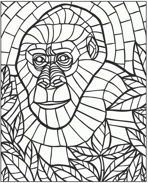 Mosaic Coloring Pages gotyourhandsfull