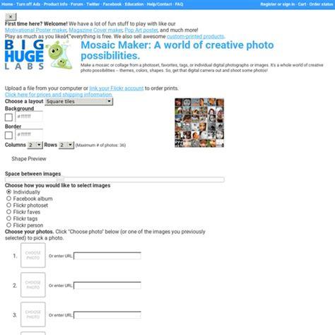 Mosaic Maker A world of creative photo possibilities