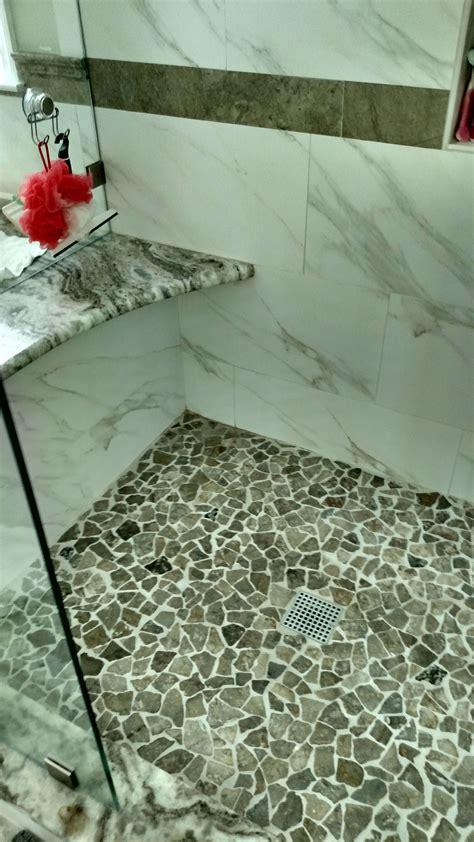 Mosaic Shower Floor Tiles Houzz