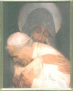 Mother Mary Holding John Paul II In Her Arms When He Was Shot