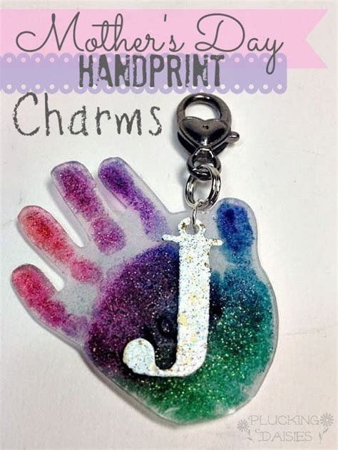 Mother s Day Craft for Kids Hand Print Charms Plucking