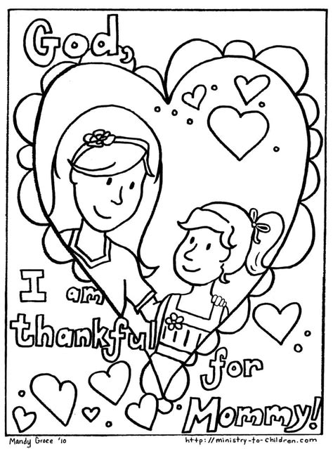 Mother s Day coloring page Mother and daughter