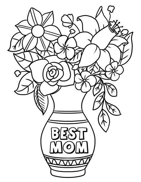 Mother s Day coloring page Mother s Day Flowers