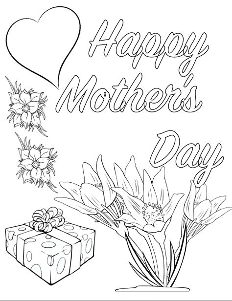 Mothers Day Coloring Pages gotyourhandsfull