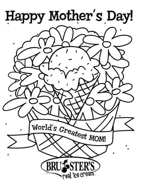 Mothers Day Colouring Sheets free for kids