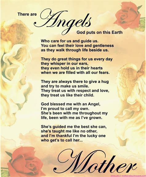 Mothers Day Poems from son or daughter