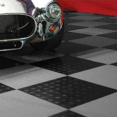 Motofloor Modular Garage Flooring Black and Alloy Tiles