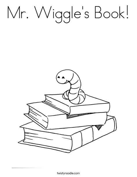 Mr Wiggle s Book Coloring Page Twisty Noodle
