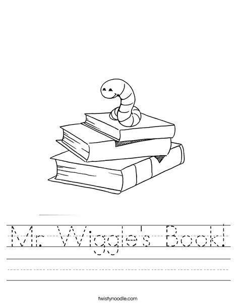 Mr Wiggle s Book Worksheet Twisty Noodle