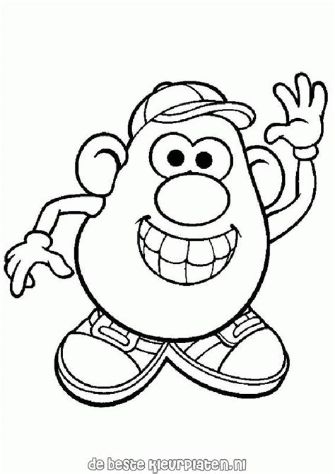 Mr and Mrs Potato Head coloring page Free Printable