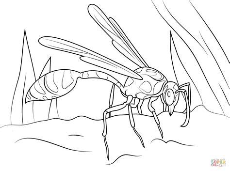 Mud Dauber Wasp coloring page Free Printable Coloring