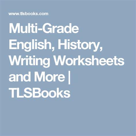 Multi Grade English History Writing Worksheets and More