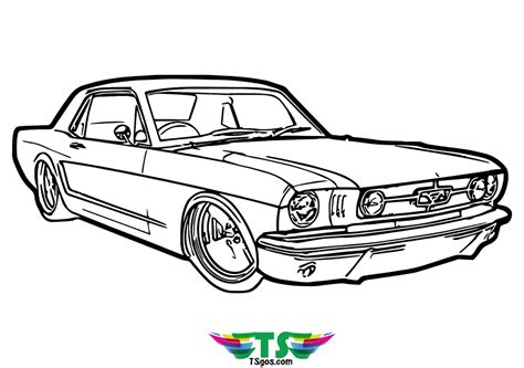 Muscle Car Coloring Page Printables Apps for Kids