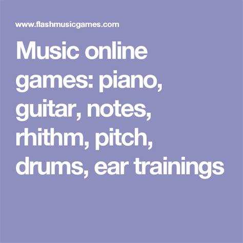 Music online games piano guitar notes rhithm pitch
