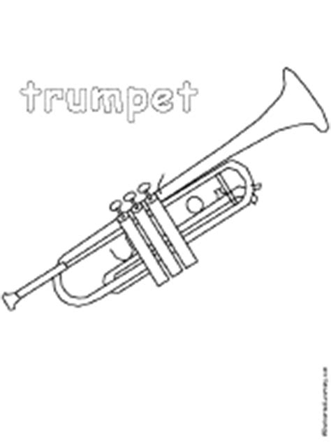 Musical Instrument Coloring Pages EnchantedLearning