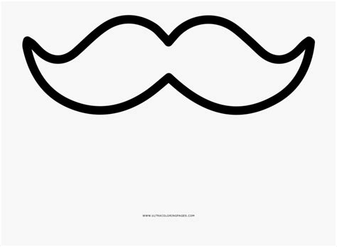 Mustache Coloring Page