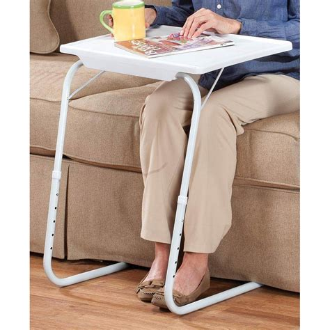 My Comfy Portable and Foldable Bedside Table TV Tray