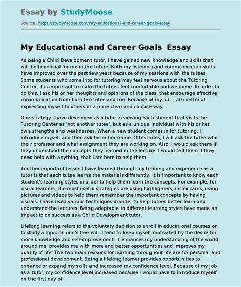 Goal Essays Yoyonf5si Scholarship Essay Examples About Career Goals