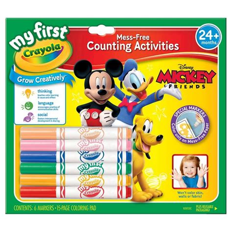 My First Crayola 174 No Mess Markers Paper Mickey Mouse