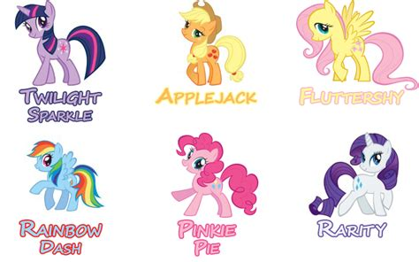 My Little Pony Names Pony Names Mlp Names