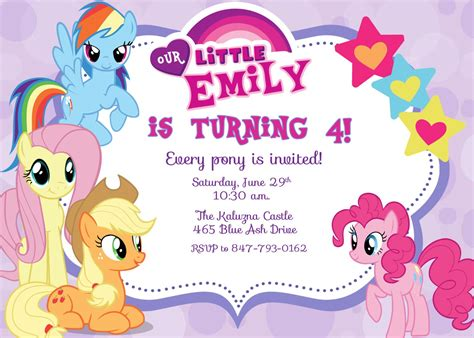 My Little Pony Party Free Printable Invitations Is it