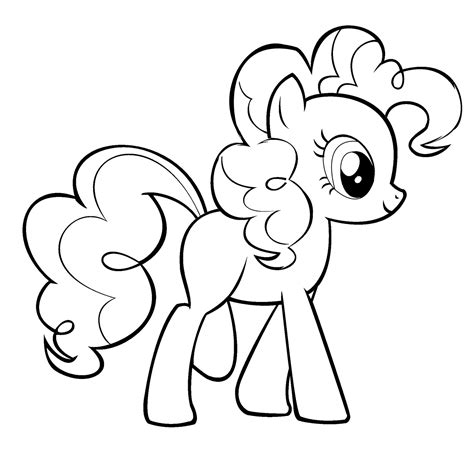 My Little Pony Pinkie Pie coloring page Free Printable
