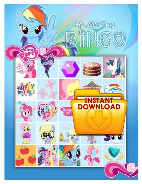 My little pony party printables Etsy
