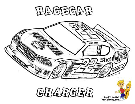 NASCAR Coloring Pages Stock Car Racing Coloring Page