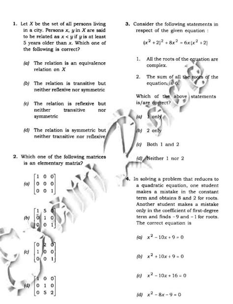 NDA Sample Paper Practice Papers with Solution PDF Download