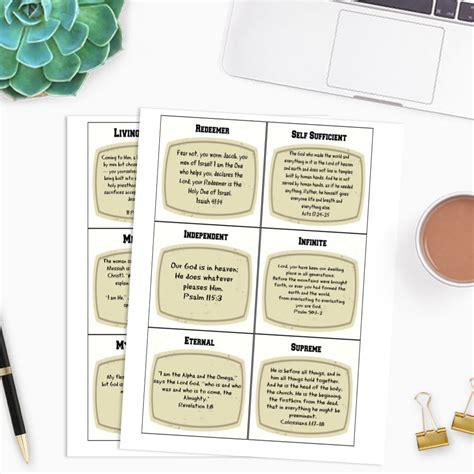Names and Attributes of God FREE printable Arabah