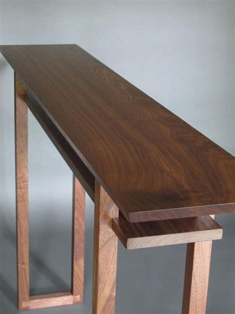 Narrow wood table Etsy