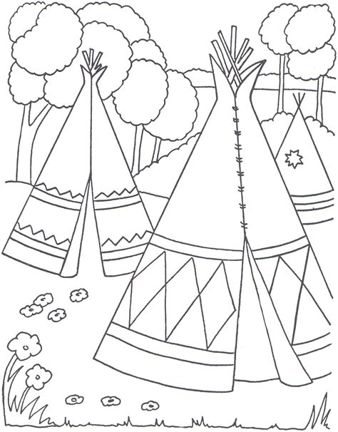 Native American Coloring Pages Fun interactive Indian