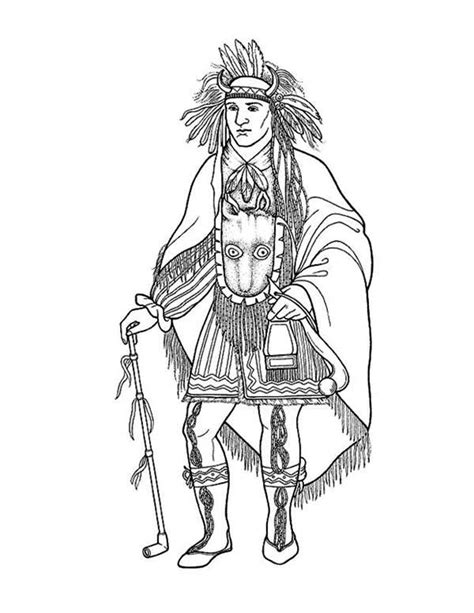 Native American Coloring Pages Posters DLTK Kids