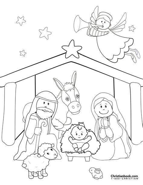 Nativity Coloring Page Free Christmas Recipes Coloring