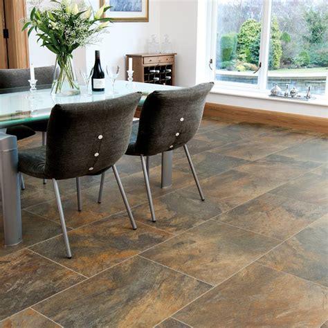 Natural Slate Effect Vinyl Floor Tiles by Karndean
