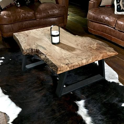Natural Wood Coffee Tables rustic coffee table wood slab