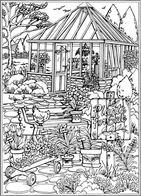 Nature Coloring Books Nature Coloring Dover Publications