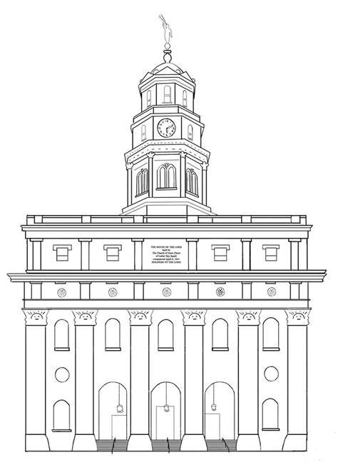 Nauvoo LDS Temple coloring page Free Printable Coloring