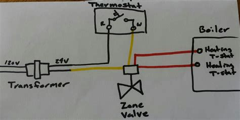 Need help with zone valve thermostat transformer wiring