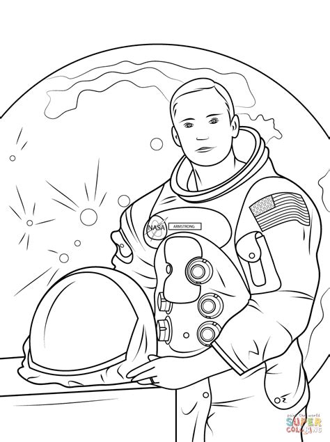 Neil Armstrong coloring page Free Printable Coloring Pages