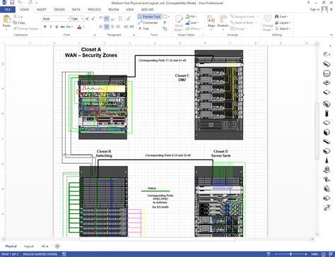visio rack cabling diagram images kamado extension multi purpose network diagrams rack elevations netzoom visio