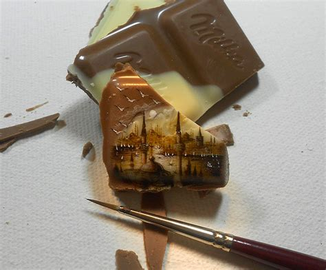 New Impossibly Tiny Landscapes Painted on Food by Hasan