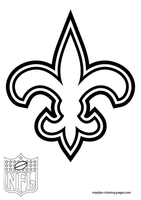 New Orleans Saints Logo coloring page Free Printable