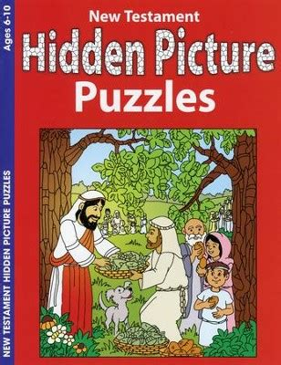 New Testament Hidden Picture Puzzles Coloring Activity