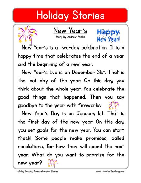 New Year Day Kids Short Stories Happy New Year Stories