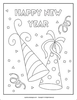 New Year s Coloring Pages Puzzles Squishy Cute Designs