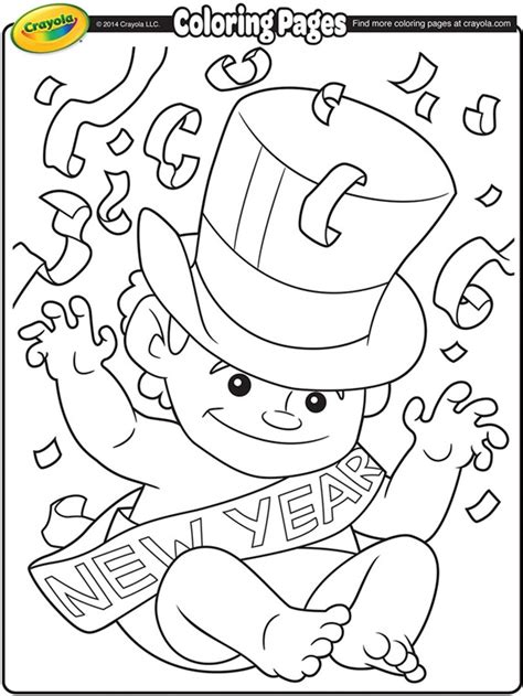 New Year s Day Coloring Pages crayola