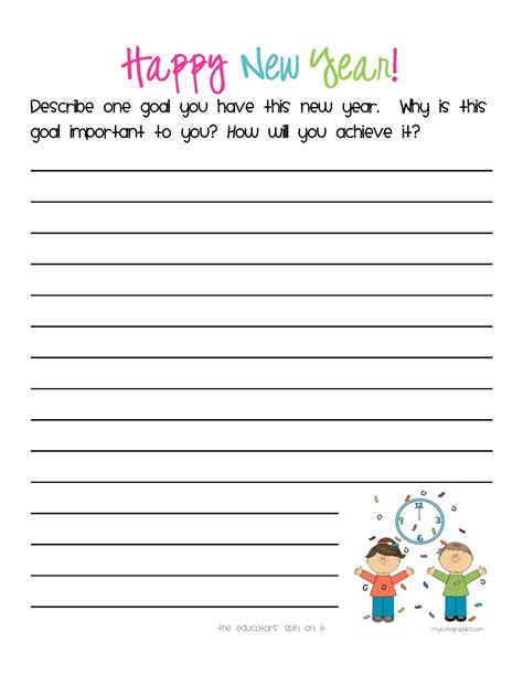 New Years Story Starters for Kids
